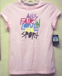Nike Girl's T-shirt Large Pink