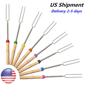 Stretch 8pc Barbecue Marshmallow Roasting Stick Telescoping Fork Smores Skewer