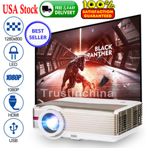 EUG LED LCD 5000Lumens 1080p Video Projector Home Theater Baseball Game 1280x800