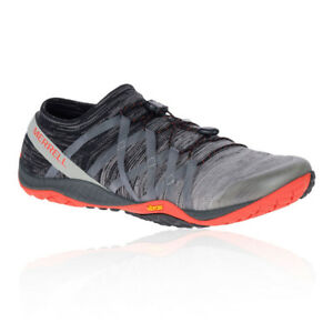 Merrell Mens Trail Glove 4 Knit Running Shoes Trainers Sneakers Grey Sports