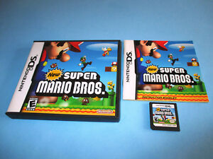 New Super Mario Bros. (Nintendo DS) Lite DSi XL 3DS 2DS wCase & Manual