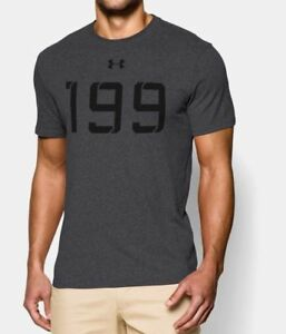 "NWT Under Armour ""199"" Tom Brady Carbon Heather T-shirt men's size XL"