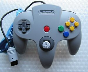 NEW Official Nintendo 64 N64 Remote Controller Joystick Pad Genuine Grey Gray