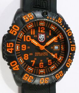 Luminox Navy Seal Colormark Watch 3059 - TANG ORANGE - NEW