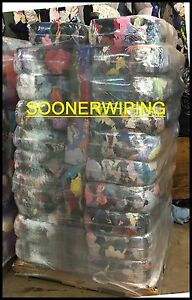WIPING BAGS OF RAGS COTTON T-SHIRT 40 25 LB COMPRESSED 1000LBS PALLET COMMERCIAL