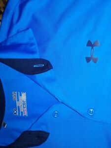 UNDER ARMOUR MENS   LOOSE FIT SS HEAT GEAR POLO SHIRT CASUAL GOLF