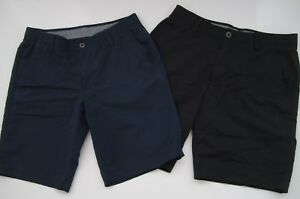 Lot of 2 Mens 34 under Armour Match Play blue black golf shorts