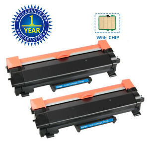 2PK High Yield TN760 TN730 Toner With IC Chip For Brother MFC L2710DW HL L2395DW $18.59
