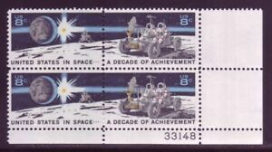 #1434-35 MOON ROVER. MINT PLATE BLOCK. F-VF NH!