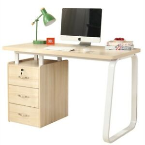 Dland Home Office Computer Desk with Built-in File Cabinet 3 Drawers WK164 Comp