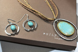 Silpada SET Pendant Howlite Necklace  N1804 & Turquoise Earring W1437 Set! $188