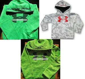 UNDER ARMOUR BOYS YOUTH SIZE 5 ~ HOODIE SWEATSHIRTS ~GRAY CAMOUFLAGE ~GREEN $126