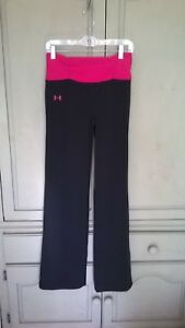 NWT Under Armour Women's Navy Blue Hot Pink Shatter Compression Pants Sz M NEW !
