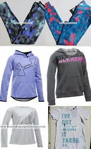 UNDER ARMOUR GIRLS XS LEGGINGS ~ HOODIES  EXTRA SMALL ~ 6X    XS     6PC    $225