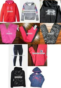 HUGE LOT GIRLS SMALL UNDER ARMOUR ~ 10pc ~HOODIE SWEATSHIRT ~ LEGGINGS $460
