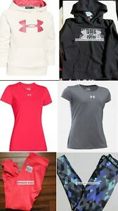 UNDER ARMOUR GIRLS LARGE ~ WINTER ~ HOODIES ~ LEGGINGS ~ TOPS ` $240 Retail 6pc