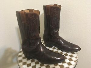 2909 VINTAGE JUSTIN ROCKABILLY BOOTS USA DISTRESSED RANCH WORK BOOTS 9.5 D