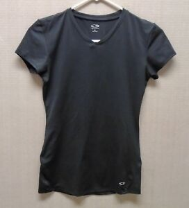Champion Women's Small Athletic Workout Running SS Shirt Black $6.00