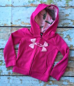 Under Armour Realtree Real Tree 4 4T Little Girls Pink Camouflage Zip Up Hoodie