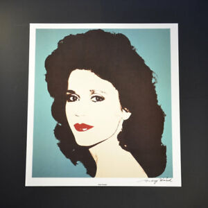"""Andy Warhol """"Jane Fonda"""" Signed Special Print from VIP Book. Hand signed COA."""