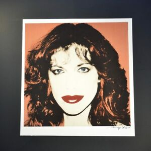 """Andy Warhol """"Carly Simon"""" Signed Special Print from VIP Book. Hand signed COA"""