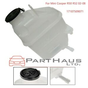 Coolant Reservoir Expansion Tank + Cap for for Mini Cooper R50 R52 02-08 1.6L