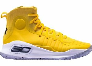 Under Armour Curry 4 Yellow Cal 1298306-700 Size 8-13 LIMITED size 12
