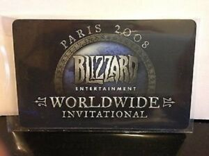 2008 Paris WWI Blizzard World Wide Invitational Mini Tyrael's Hilt Pet Loot Card
