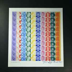 """Andy Warhol """"Myths"""" Signed Print from VIP Book.  Hand signed by Warhol w COA"""