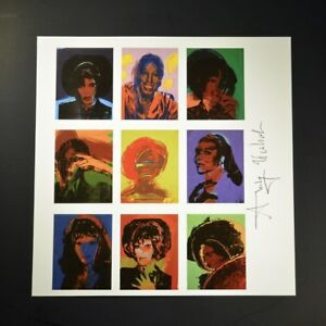 """Andy Warhol """"Ladies and Gentlemen"""".  Print from VIP Book.  Hand signed. w COA."""