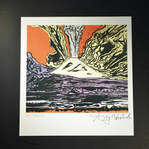 """Andy Warhol """"Vesuvius"""" Signed Print from VIP Book. Hand signed by Warhol COA."""