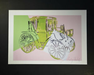 """Andy Warhol """"Cars"""" Print from VIP Book.  Hand signed by Andy Warhol with COA."""