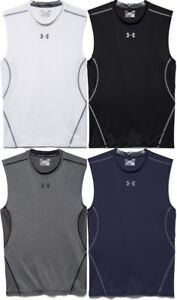 Under Armour Men's UA HeatGear Compression Shirt, Sleeveless, Tank Top 1257469 $21.99