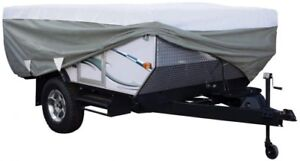 Folding Camping Trailer Cover Travel RV Accessory Outdoor Adjustable Storage NEW