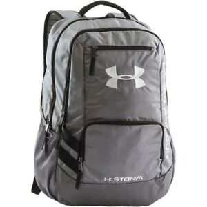 NEW Under Armour UA 1272782 Team Hustle Mens STORM Backpack GRAY 040 18