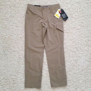 NWT $ 69.99 Under Armour 8 young boy match play cargo golf pant canvas