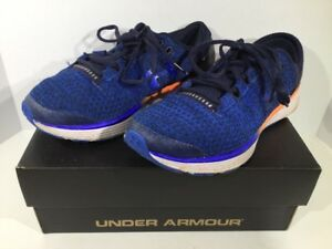 Under Armour BGS Charged Bandit 3 Boys Size 6 BlueOrange Sneakers Shoes XK-1571