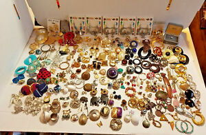 Lot JEWELRY Earrings PIN & PENDANT Wearing Parts Repair Replacement or CRAFTING