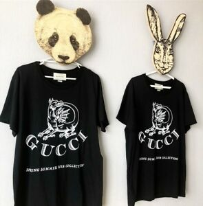 Gucci Printed Cotton-Jersey T-Shirt BLACK Medium M