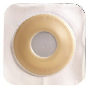 Colostomy Barrier  Pre-Cut DurahesiveWhite Tape 1-34 Flange 1-18 Box10