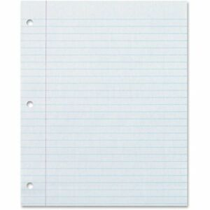 Loose Leaf Paper, on 24lb. Printed Double Sided With 3 Hole Punch - 100 Sheets P