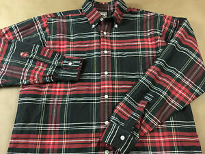 Vintage Brooks Brothers Mens M Made USA Sport Button Front Shirt Tag Size M