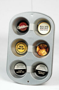 Wilton Regular Muffin Pan 6 Cup Non Stick Steel