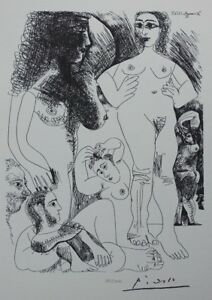 Pablo Picasso (after) - Odalisques - Lithography Erotic Signed #1200ex