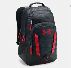 Under Armour UA Storm Recruit Backpack Black Red Gray Men's Women's 1261825 New