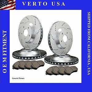 Front Rear Brake Rotors Pads For Ford Mustang 2005-2006-2007-2008 to 2014
