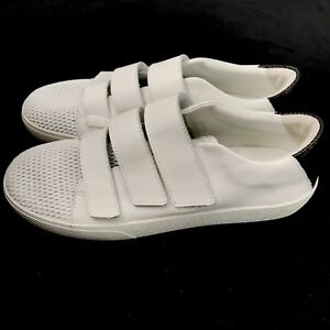 Mercer Edit Cha Ching Sneakers Womens 9.5 White Leather Hook & Loop Closures