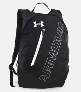 Under Armour UA Storm Packable Backpack Black White Men's Women's 1256393 New