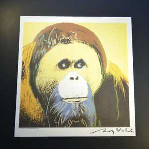 """Andy Warhol """"Orangutan"""" from 1983 VIP Book.  Hand signed by Warhol with COA."""