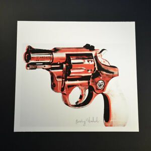 Andy Warhol Gun (Red and Black Sentinel Hi-Standard .22 Cal). Hand Signed COA